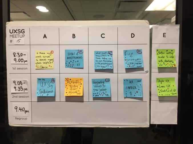 UXSG Meetup #15 topics
