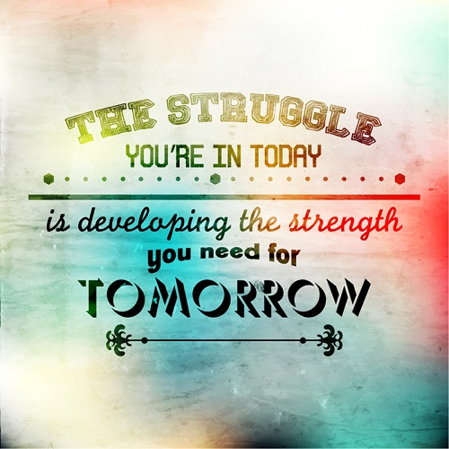 Developing Strength Motivational Quote: Cut The Flab! – Your. MINDSET. Matters.