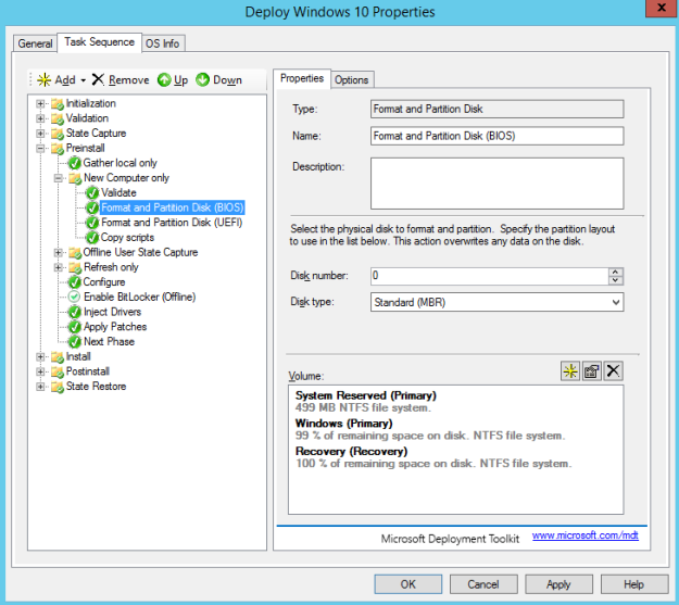 Custom Partition Hard Disk Sizes With MDT | T 8ytes by Titansoft